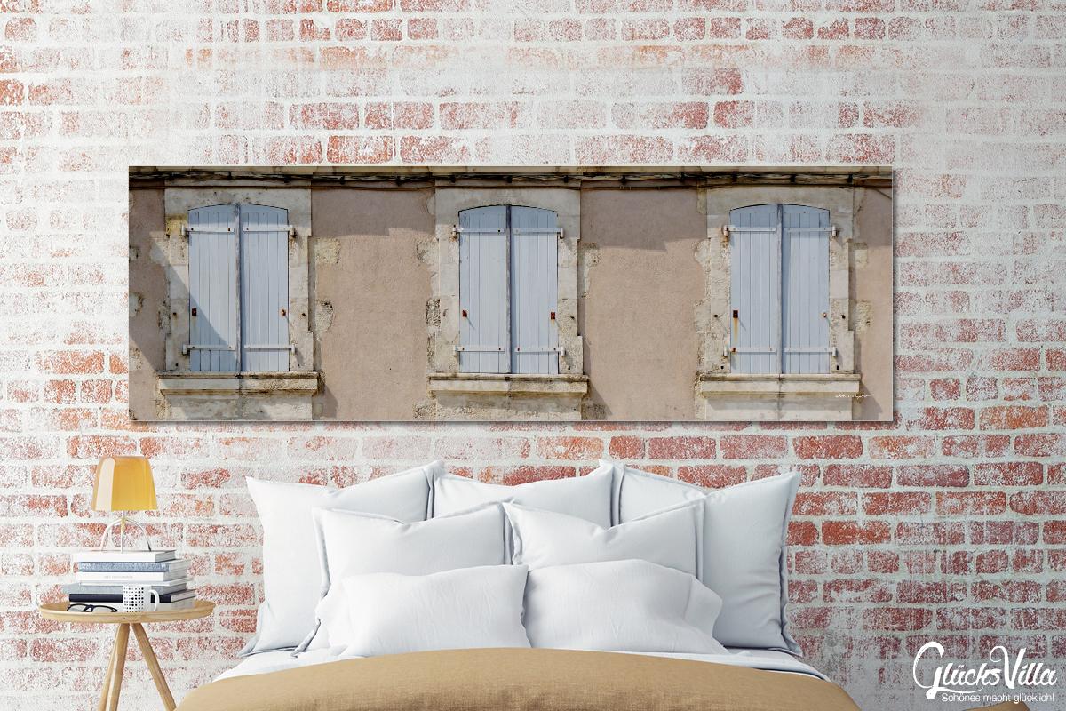 Französische Fenster französische fenster 3 - glücksvilla - foto, wandbild, xxl kunstdruck