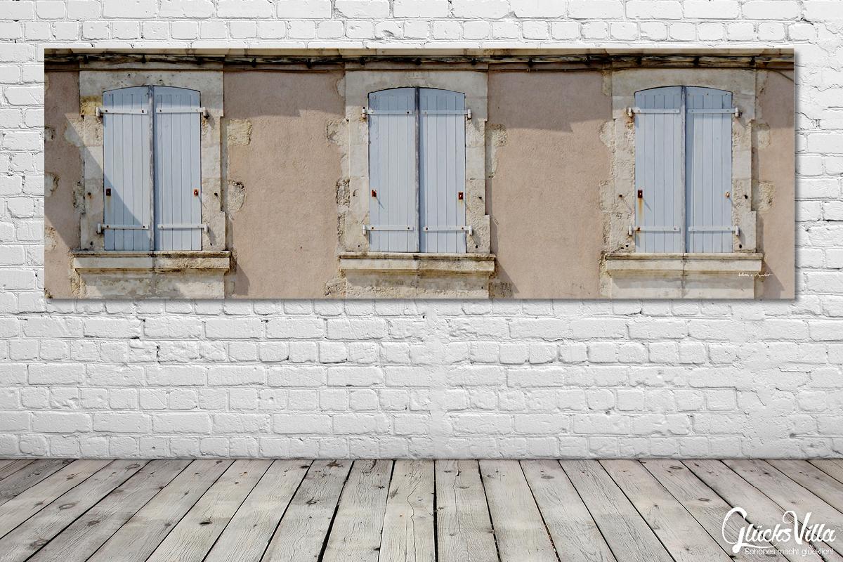 Franzosische Fenster 3 Glucksvilla Foto Wandbild Xxl Kunstdruck