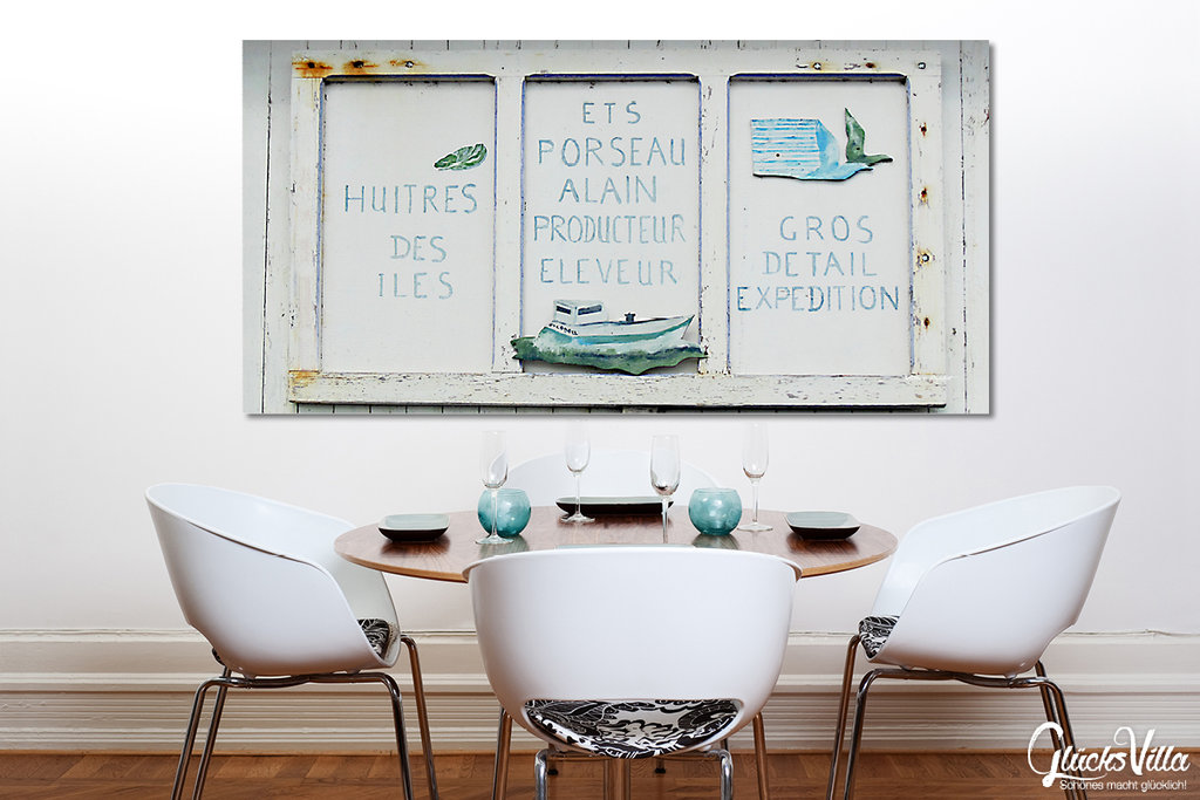 austern zu verkaufen gl cksvilla foto wandbild xxl kunstdruck. Black Bedroom Furniture Sets. Home Design Ideas